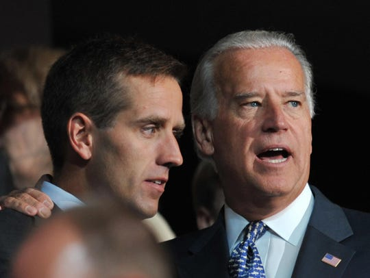 Joe Biden is shown with his son, Beau Biden,  at the