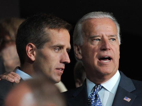 Joe Biden is shown with his son, Beau Biden,  at the