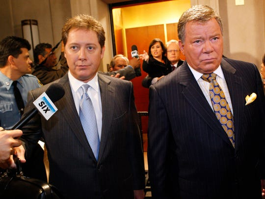 James Spader, left, and William Shatner formed a magical partnership on 'The Practice' spinoff, 'Boston Legal.'