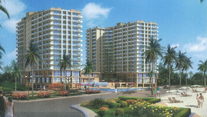 An artist's rendering of the proposed Pago Bay Marina Resort.