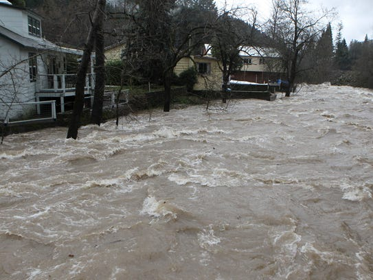 The Sacramento River flows through Dunsmuir Thursday