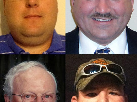 Pictured, clockwise, from left, Shane Nichols, Shane Chandler, Shane Sanders and Bob Stone.