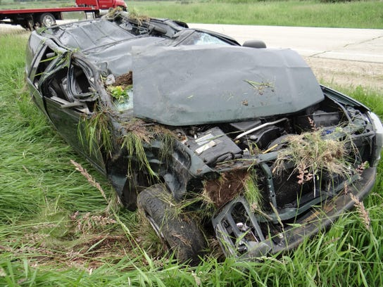 Two men were seriously injured in a vehicle rollover