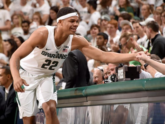 Sophomore Miles Bridges decided against entering the