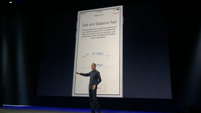 Apple VP of operations Jeff Williams discussed the iPhone's new medical Research Kit apps at the company's Watch-focused event in San Francisco on Monday.