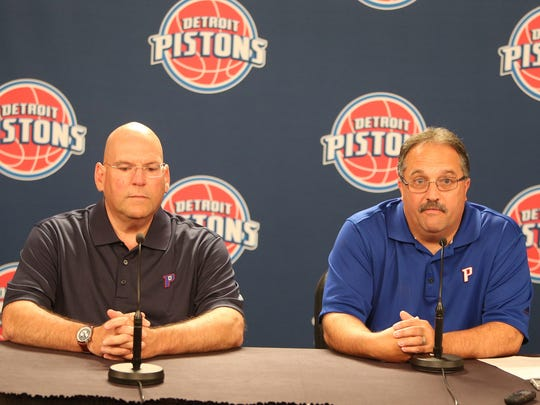Detroit Pistons head coach and president of basketball operations Stan Van Gundy named Jeff Bower the general manager on Wednesday, June 4, 2014  at The Palace of Auburn Hills.