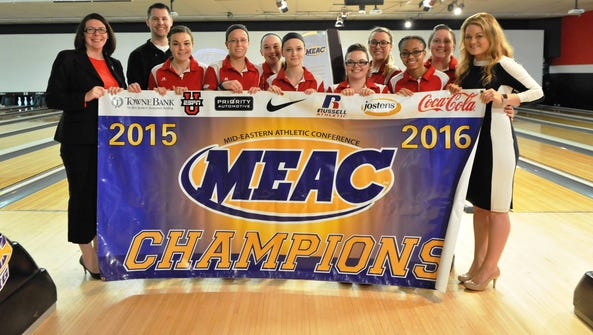 The Delaware State University bowling team won its