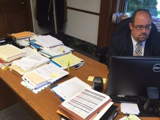 Brown County District Attorney David Lasee at work