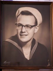 """Albert """"Skip"""" Braak, shown here in a photo from his service days, in Des Moines, Thursday, June 28, 2018, a veteran who survived the 1954 naval disaster aboard the USS Bennington that killed over 100 sailors and airmen."""