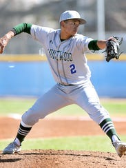 Montwood pitcher Fernie Zubia lets a pitch fly against