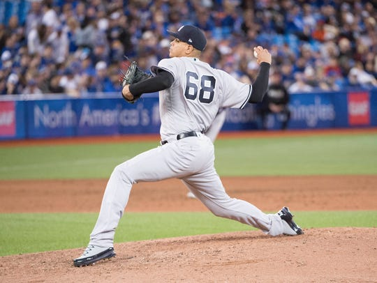 """""""For me, pounding the strike zone is what I need to do,'' said Betances. """"And I feel like I'm doing pretty good at that right now.''"""