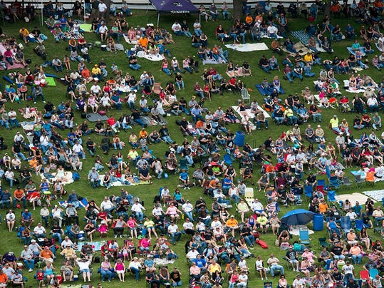 The crowd.  Paul Kuehnel - York Daily Record/ Sunday News