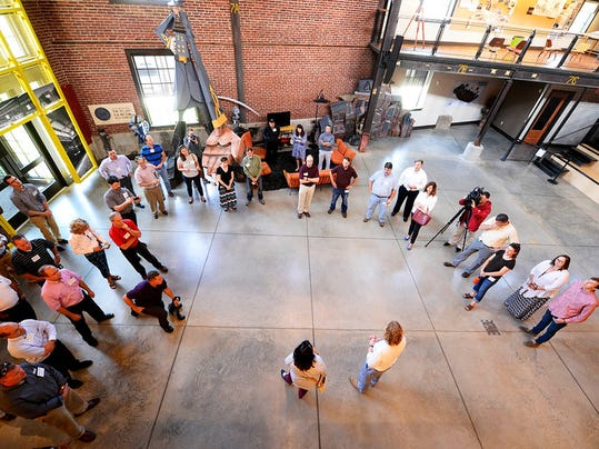 Pennsylvania State Representative Kevin Schreiber speaks to a group at LSC Design before beginning a green walking tour in downtown York Friday, June 5, 2015. The tour was sponsored by USGBC Central Pennsylvania and hosted by State Rep. Kevin Schreiber, D-York.  Kate Penn -- Daily Record/Sunday News