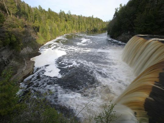 The Upper Falls of Tahquamenon Falls in Michigan's Upper Peninsula photographed on Friday, May 20, 2005.