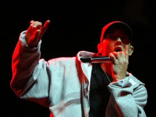 Eminem fit the most words into a hit song ('Rap God,' with about 1,560 words) to make the Guinness records.