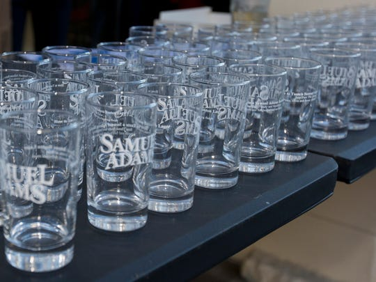 Glasses at a 2015 beer crawl in Reno.
