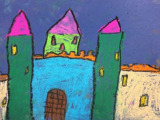 Artwork by Layla Vancuren, grade 1.