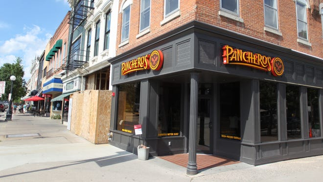 The newly renovated Pancheros in downtown Iowa City on Monday, July 22, 2013. The restaurant is expected to reolpen its doors today.