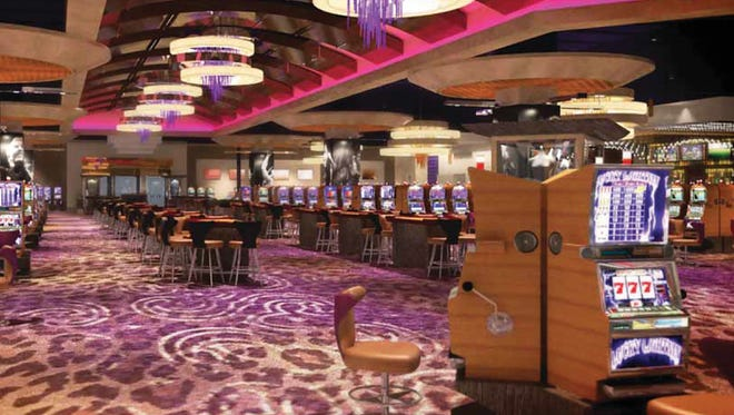 The casino floor at the Hard Rock Hotel & Casino in Sioux City will have more than 830 slot machines.