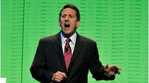 Brian Cornell, then president and CEO of Sam's Club, speaks during the Wal-Mart Stores Inc. shareholders' meeting in Fayetteville, Ark., in this June 4, 2010 file photo. Target Corp. is bringing in Cornell as its new chief executive, turning to an outsider for the first time in its history to repair a battered corporate culture and navigate a sea change in Americans' shopping habits. (AP Photo/April L. Brown, File)
