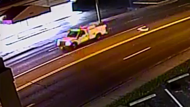 Police are looking for the driver of this truck they believe was involved in a pedestrian hit and run in Salisbury.