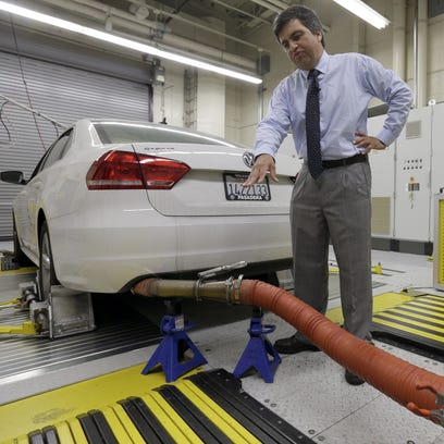 John Swanton, spokesman with the California Air Resources Board explains how a 2013 Volkswagen Passat with a diesel engine is evaluated