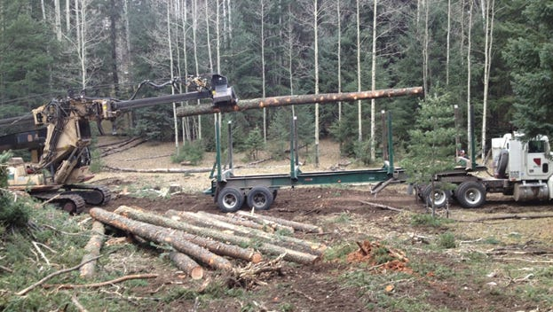 Jensen Contracting completing work on a CFRP project on the Sacramento Ranger District near Cloudcroft.