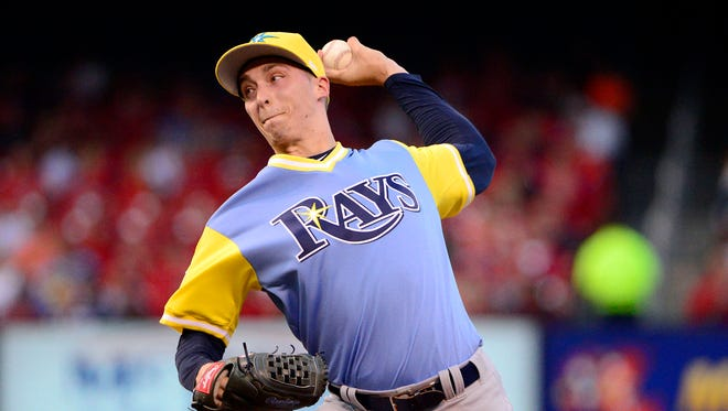 Rays pitcher Blake Snell has made significant improvements in his control in his return to the majors.