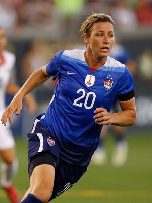 Abby Wambach #20 of the United States runs during the friendly match against Costa Rica at Finley Stadium on August 19, 2015 in Chattanooga, Tennessee.