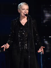 Annie Lennox performs at the 57th annual Grammy Awards in 2015 in Los Angeles. AP photo.