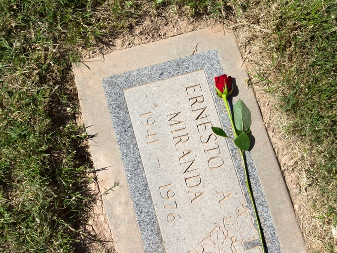 "Ernesto Miranda of ""Miranda rights"" fame is buried"