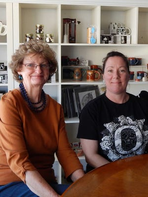 From left: Sharon Hefker past president and Shelby Hyatt, current Carrizozo Woman's Club president.