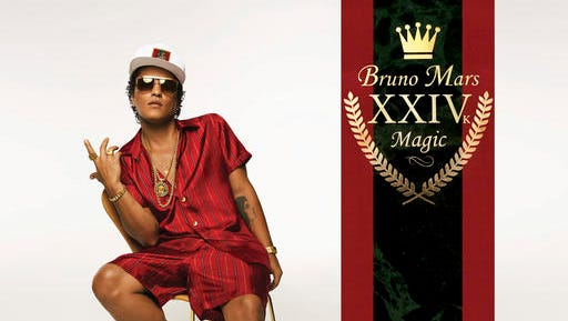 "This cover image released by Atlantic Records shows, ""24K Magic,"" the latest release by Bruno Mars. Mars, 31, said the album was inspired by his love for R&B acts like New Edition, Boyz II Men and Jodeci."