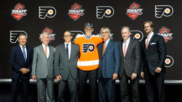 The Flyers drafted Samuel Morin in the first round of the 2013 draft in Newark.