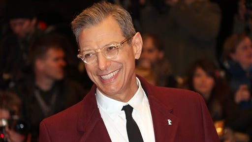 """Actor Jeff Goldblum at the screening of the film The Grand Budapest Hotel and opening night of the 64th Berlinale International Film Festival in Berlin. The Cafe Carlyle said that the """"Jurassic Park"""" star will perform Sept. 16?20 with his jazz band, The Mildred Snitzer Orchestra. The actor has sung and played piano with the band for years but the new dates mark their New York premier."""