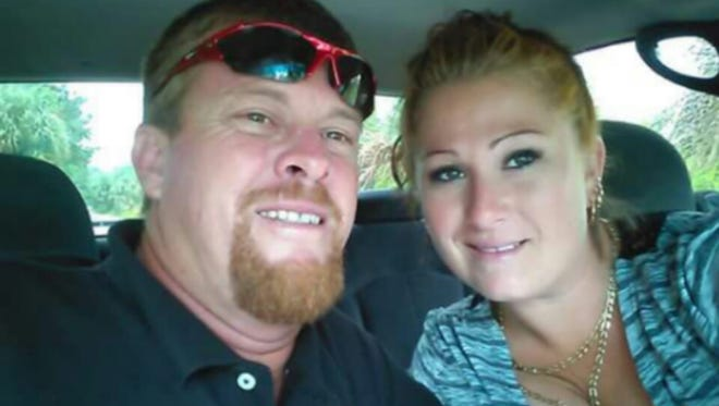 Jason Rodeghier and fiance Julie Goloversic pose in a recent photo. Rodeghier was killed by a hit-and-run driver on Feb. 15 while jogging in Cocoa.