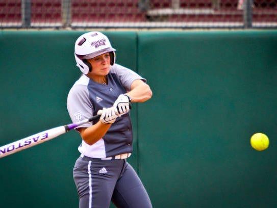 Mississippi State sophomore Caroline Seitz homered in her team's loss on Friday.