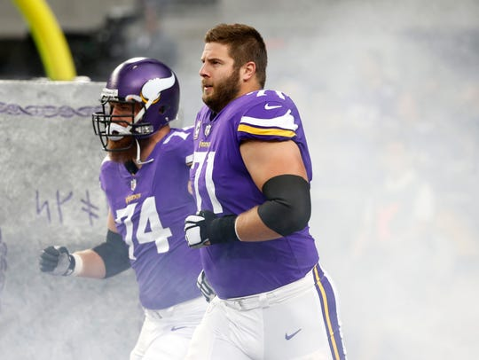 Minnesota Vikings offensive tackle Riley Reiff.