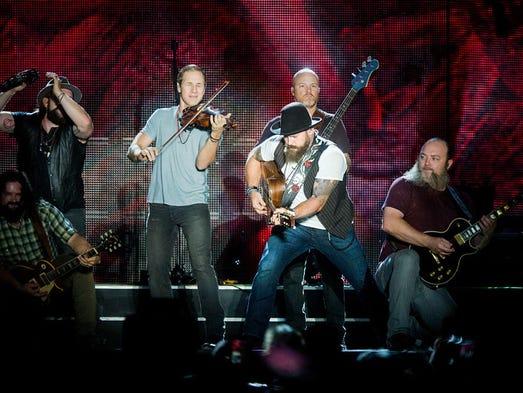 """Zac Brown Band performs at Hersheypark Stadium on"