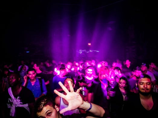 DJ and dance music producer Matthew Dear performed