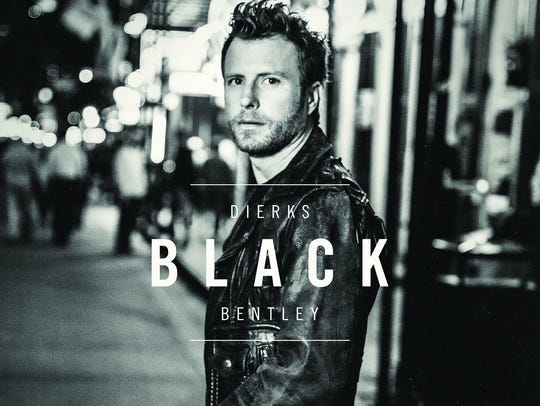 The cover of Dierks Bentley's upcoming album 'Black.'