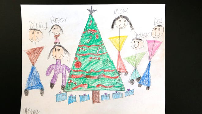 Students from Murdock Elementary School share their holiday expertise drawings.