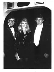 Donald Trump and his then-girlfriend Marla Maples visited Melvyn's Restaurant in Palm Springs on Oct. 27, 1991. On left is long-time maître d' Brian Ellis.