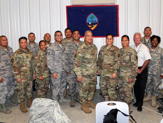 Nine Soldiers and Airmen from the Guam National Guard