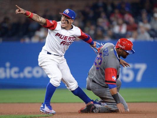Baseball: World Baseball Classic-Dominican Republic  at  Puerto Rico