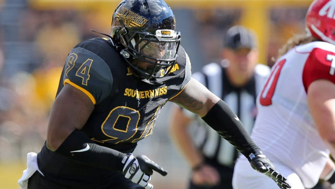 Southern Miss defensive lineman Dylan Bradley will be a key piece of the Golden Eagle defense in 2016.