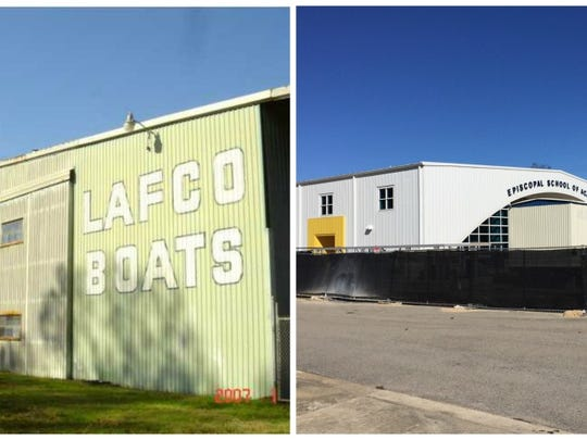 This photo shows how the former Lafco Boats building on Kaliste Saloom Road is being turned into an enrichment center for Episcopal School of Acadiana.