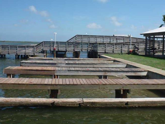 This San Patricio Navigation District pier in Aransas