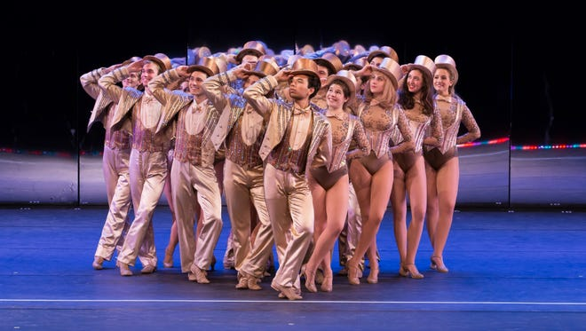 "Ithaca College students perform in a 2015 production of ""A Chorus Line."""