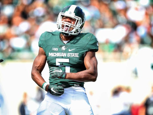 newest f4cd9 6c80f MSU's Andrew Dowell steps up, Shane Jones steps in